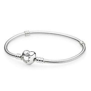 Pandora signature heart charm bracelet.
